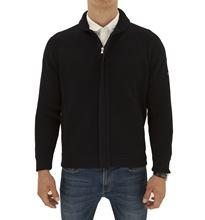 Picture of Slocum knitted zip jacket navy blue