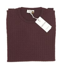 Picture of BRAIDED ROUND NECK SWEATER COLOUR BURGUNDY