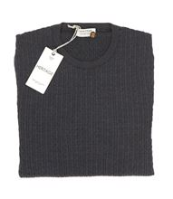 Picture of BRAIDED ROUND NECK COLOUR NAVY