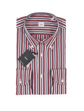 Picture of STRIPED SHIRT RED BACKGROUND