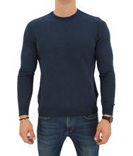Picture of ROUND NECK STOCKINETTE STITCH SWEATER COLOUR TRUE BLUE