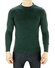 Picture of Dark green round neck sweater
