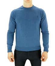 Picture of ROUND NECK SUPERGEELONG SWEATER COLOUR AIR FORCE BLUE