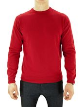 Picture of ROUND NECK SUPERGEELONG SWEATER COLOUR RUBY