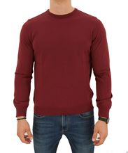 Picture of  ROUND NECK STOCKINETTE STITCH SWEATER COLOUR BURGUNDY