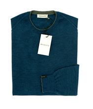 Picture of ROUND NECK SILK/WOOL SWEATER COLOUR STEEL BLUE