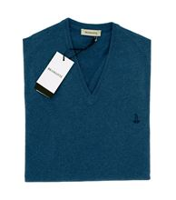 Picture of V-NECK SWEATER COLOUR TEAL