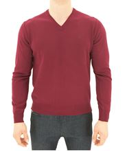 Picture of V-NECK SWEATER COLOUR BURGUNDY