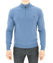 Immagine di lupetto con zip azzurro