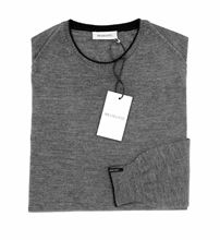 Picture of ROUND NECK SILK/WOOL COLOUR GREY