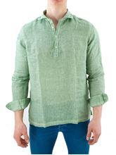 Picture of Casacca in lino lavato verde