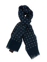 Picture of PATTERNED SCARF BLUE BACKGROUND