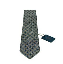 Picture of PATTERNED TIE DOVE GRAY BACKFROUND LIGHT BLUE PRINT