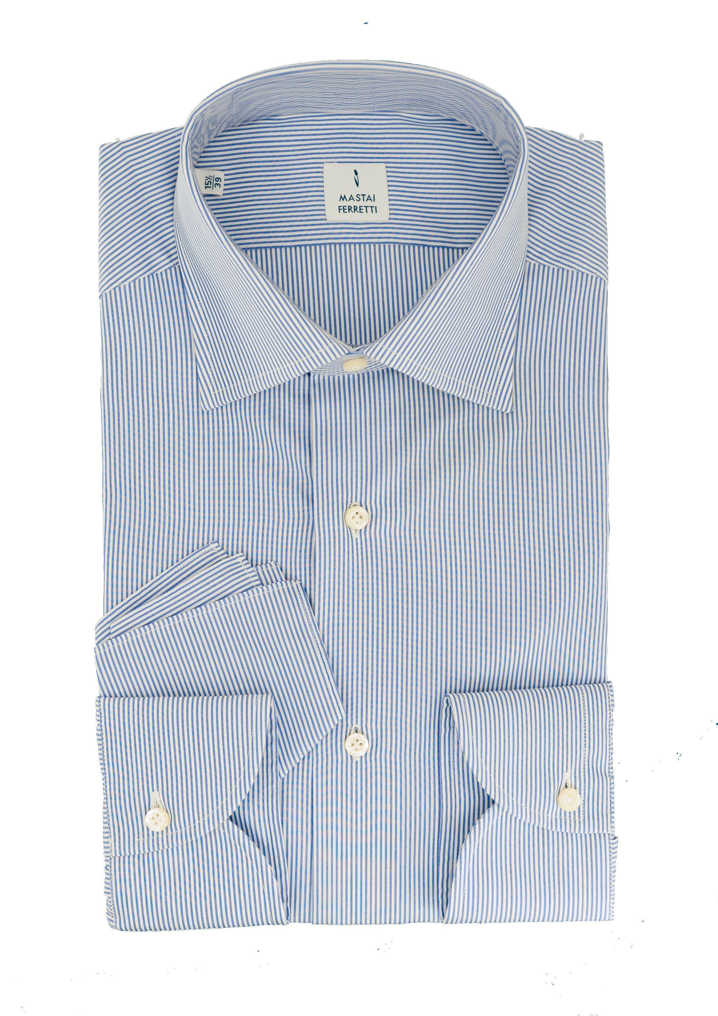 Mastai Ferretti camicia righe collo classico Vestibilità Custom ... e68460ceec6a