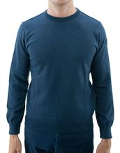Picture of Water proof crew neck sweater light blue