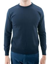 Picture of Water proof crew neck sweater navy blue