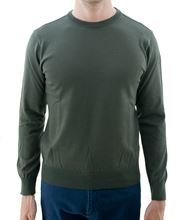 Picture of Water proof crew neck sweater military green