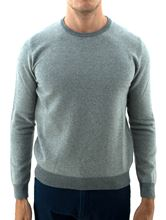 Picture of Honeycomb wool crewneck sweater light grey