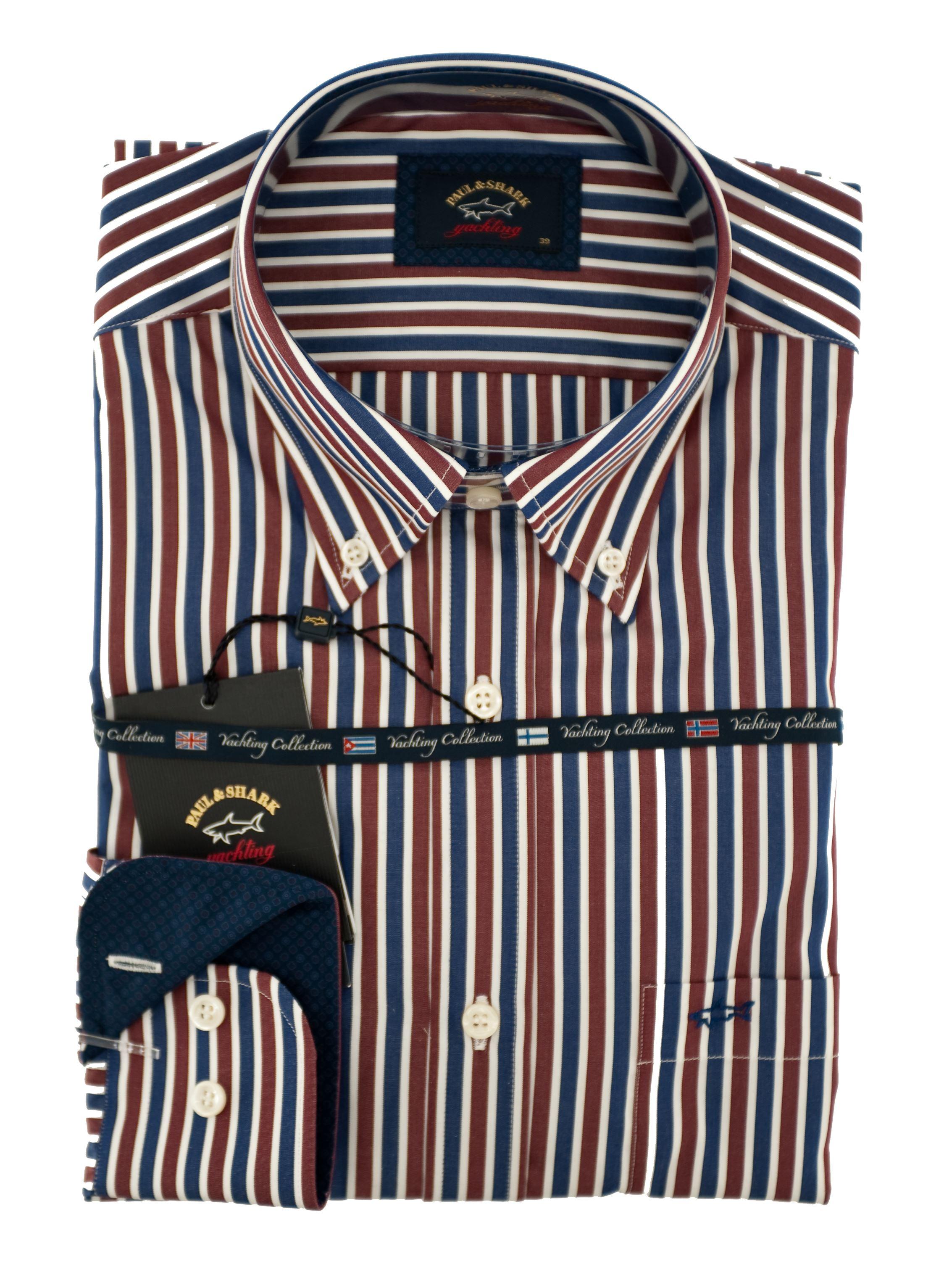 Immagine di camicia manica lunga a righe