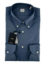 Picture of Micro pattern shirt blue background