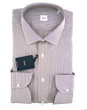 Immagine di Camicia fondo bianco a righe bordeaux