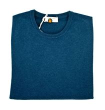 Picture of Round neck pure cashmere sweater colour light blue