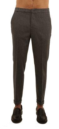 Immagine di Pantalone con coulisse in flanella elasticizzata grigio chiaro