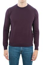 Picture of Crew neck merino wool reddish purple