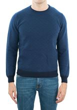Picture of Micro patterned crewneck in blue