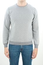 Picture of Micro patterned crewneck in steel gray