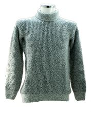 Picture of Turtleneck sweater with white background and blue malange