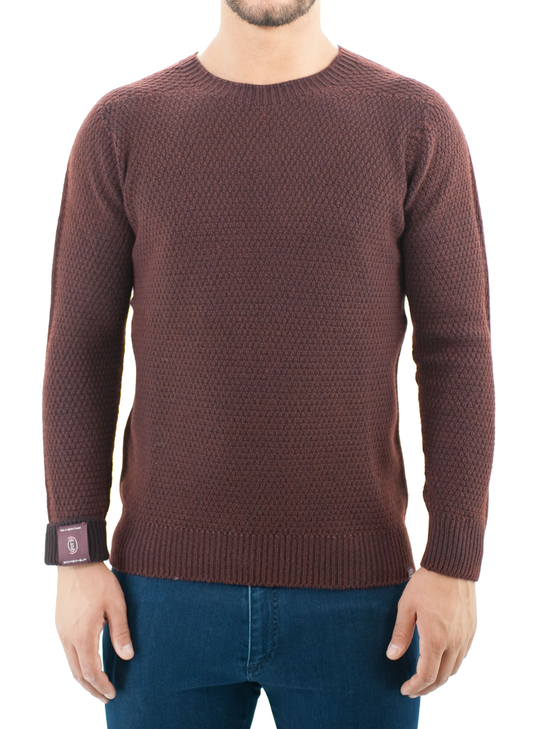 Picture of Wool crewneck  moss stitch