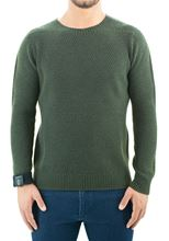 Picture of Crew neck moss stitch green