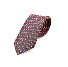 Picture of Patterned tie blue and red background