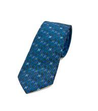 Immagine di Cravatta fantasia fondo blu