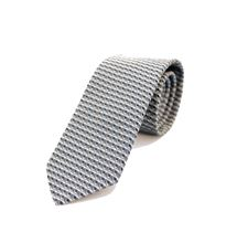Picture of Patterned tie blue an grey background