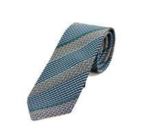 Immagine di Cravatta fantasia fondo grigio e blu
