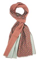 Picture of Cotton scarf burgundy pattern