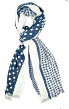 Picture of Wool scarf blue pattern