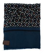 Picture of pattern scarf with blue background