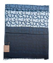 Picture of Cashmere patterned scarf with shades of blue