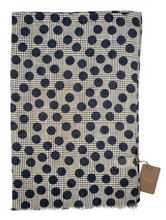 Picture of Blue polka dot patterned scarf