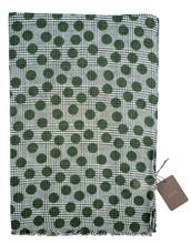 Picture of Green polka dot patterned scarf