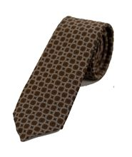 Picture of Light brown patterned tie