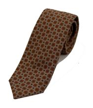 Picture of Ocher patterned tie