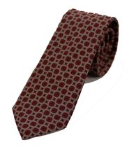 Picture of Burgundy patterned tie