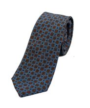 Picture of Blue and brown patterned tie