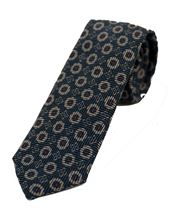 Picture of Patterned tie dark blue background