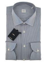 Picture of Blue stripped shirt white background