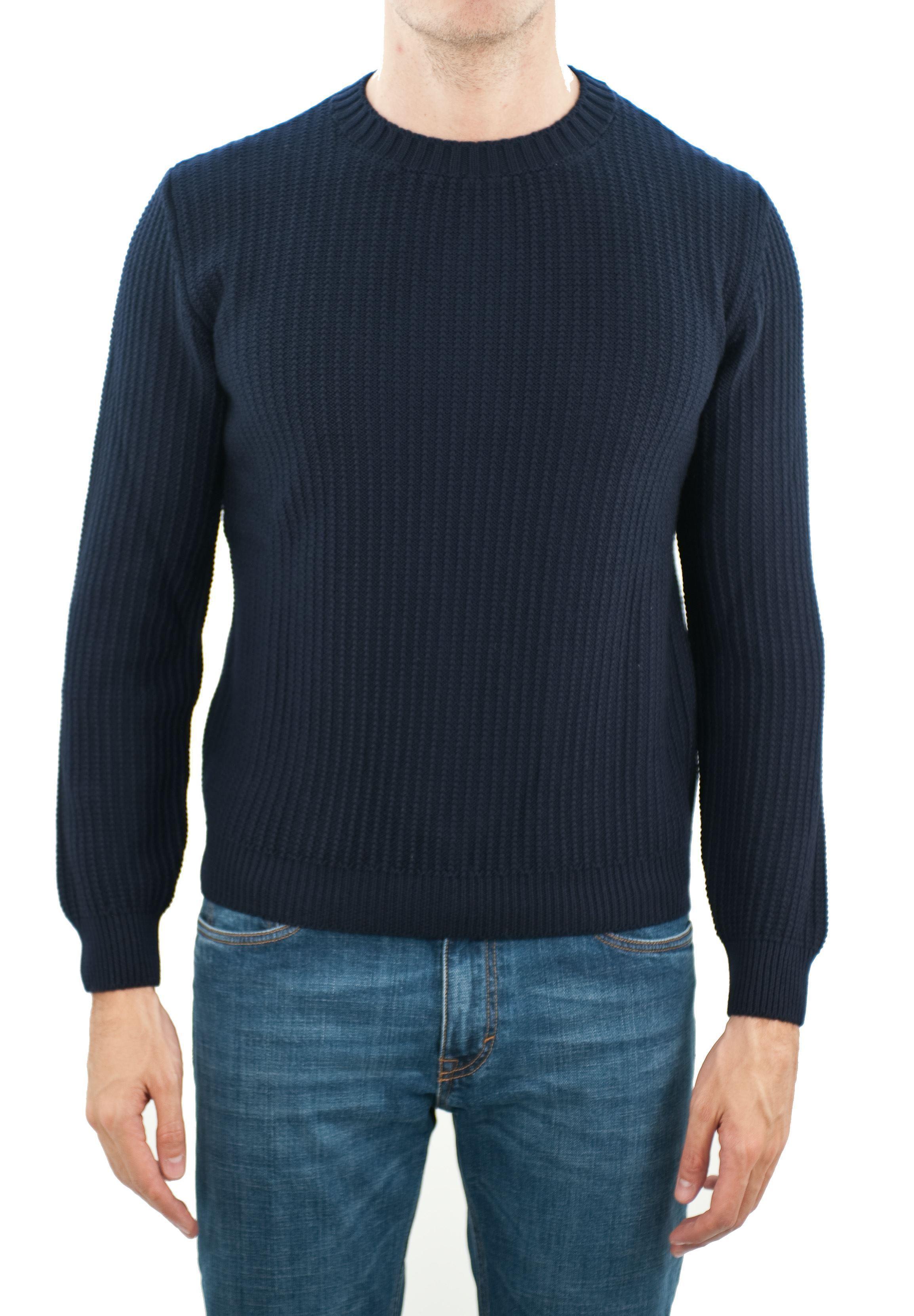 Immagine di Girocollo lana merino a coste